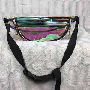 Handbags - Holographic Iridescent Clear Fanny Pack Belt Bag